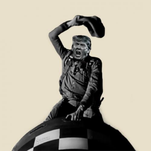 Trump Rides The Bomb a la Dr. Strangelove